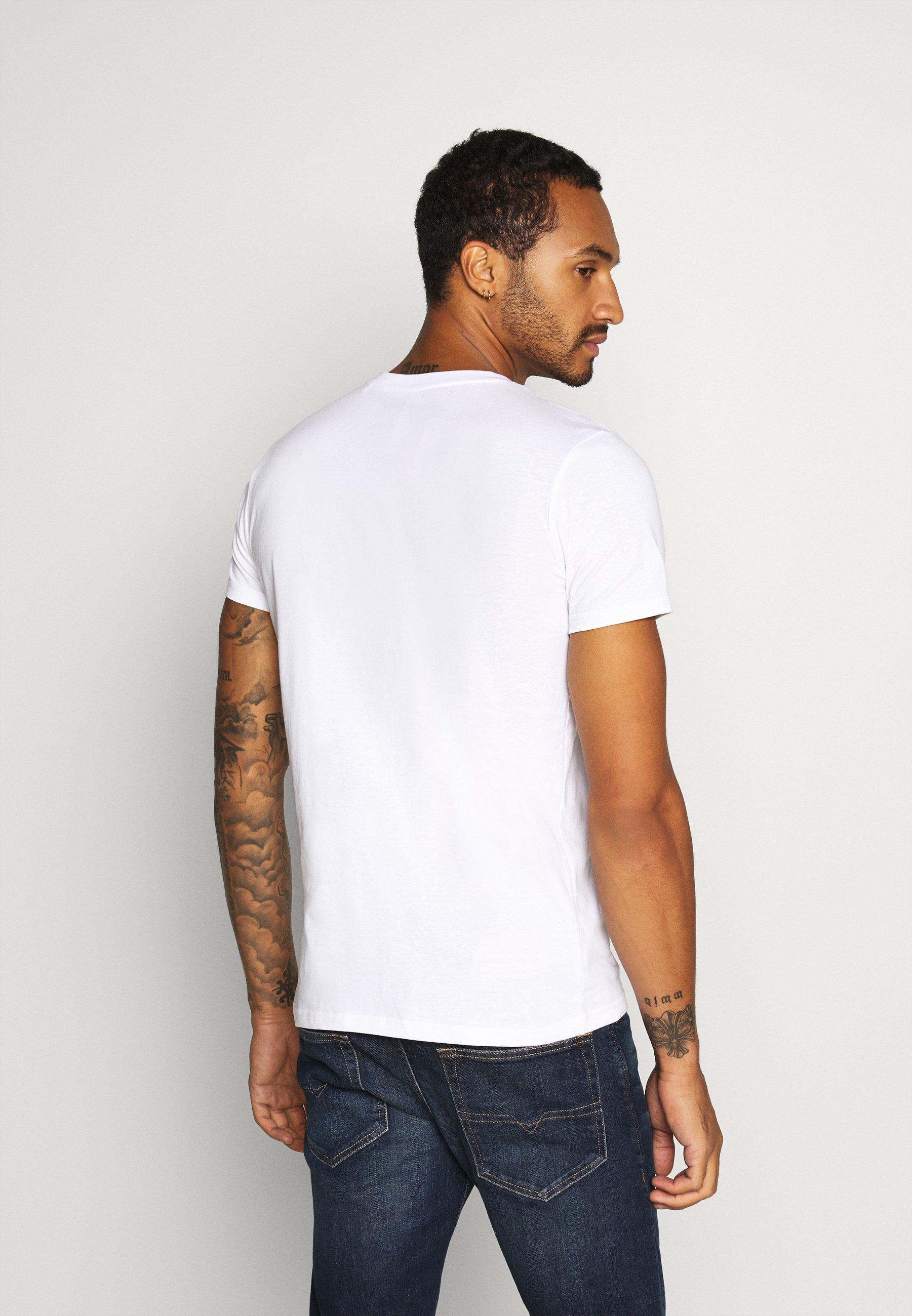 Solid PRINTED  - Print T-shirt - white 13eAe