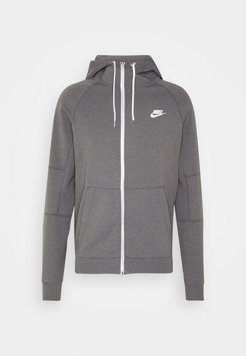 Zip-up sweatshirt - iron grey/ice silver/white/