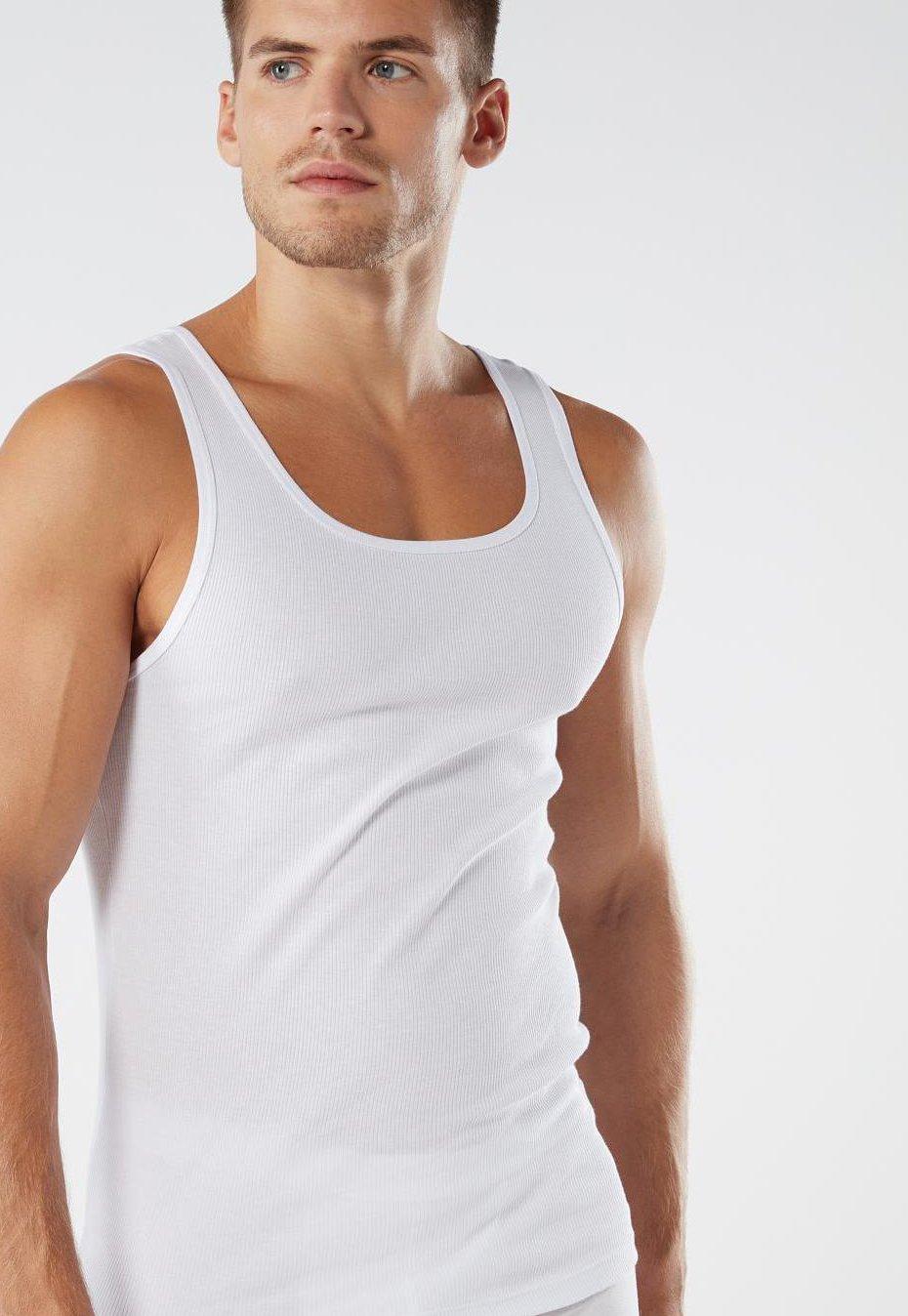 Herren TOP AUS GERIPPTER SUPIMA-BAUMWOLLE - Unterhemd/-shirt