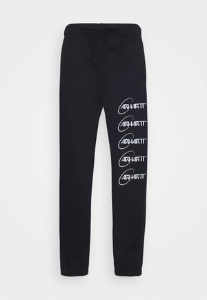ORBIT PANT - Tracksuit bottoms - dark navy/white