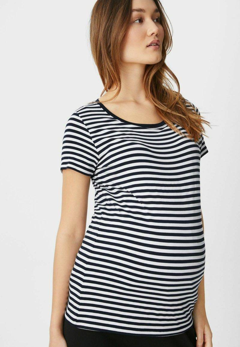 C&A - Print T-shirt - dark blue / white