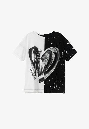 BRUSELAS - Print T-shirt - white