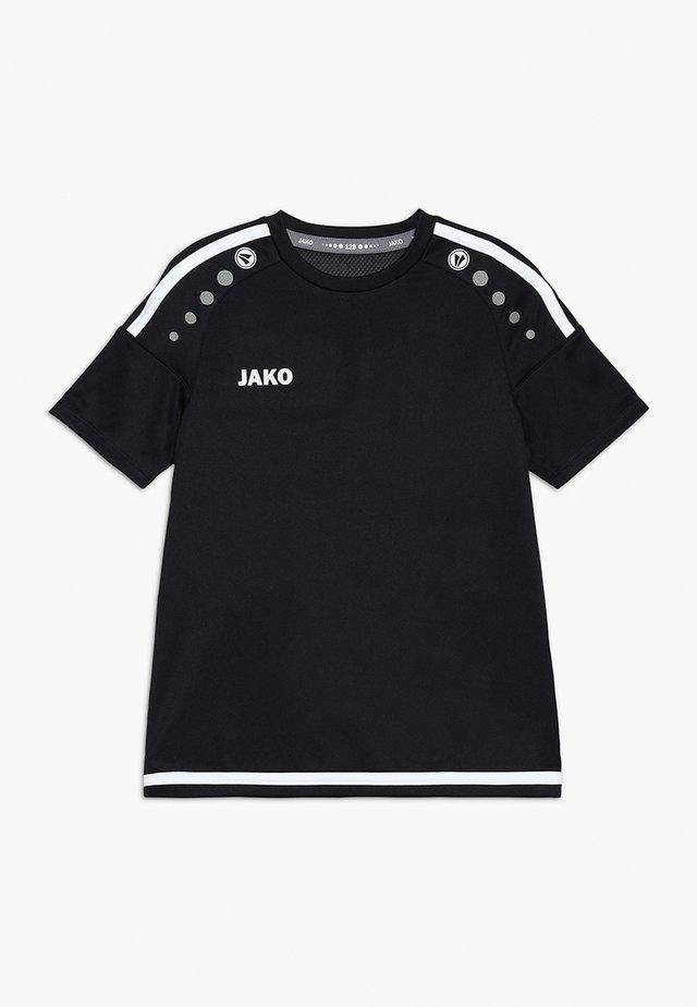 TRIKOT STRIKER - T-shirt z nadrukiem - schwarz/weiß