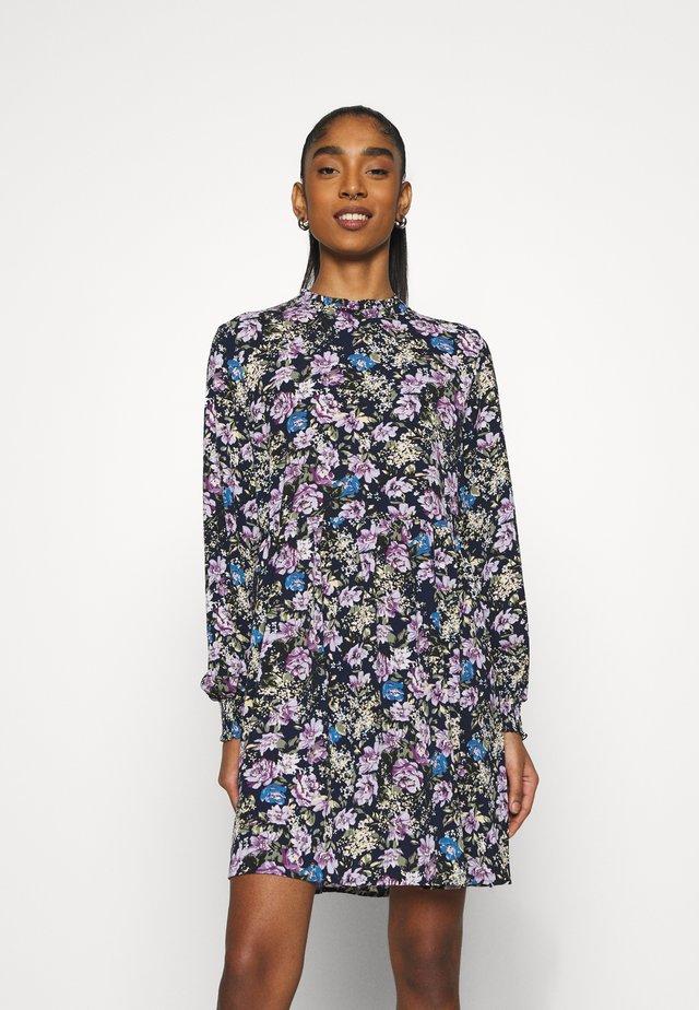 JDYPIPER SHORT DRESS - Vapaa-ajan mekko - black iris/purple/parisian blue