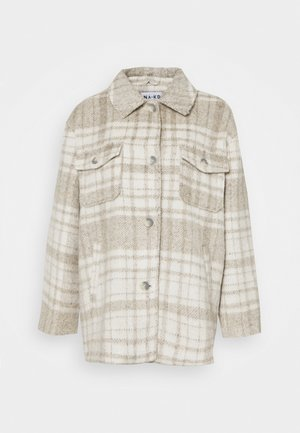 BRUSHED CHEST POCKET JACKET - Chaqueta fina - tan