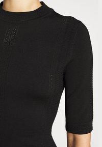 HUGO - SHATHA - Pletené šaty - black - 4