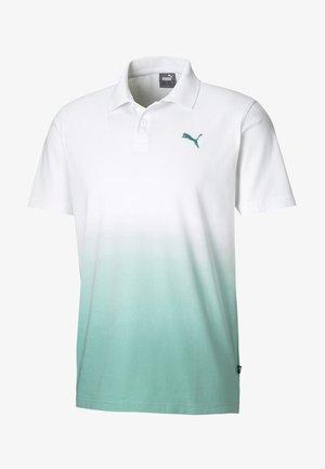 Polo shirt - white-blue turquoise