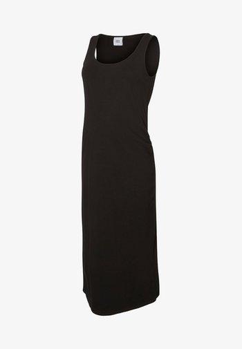 MIDI TANK DRESS - Jersey dress - black