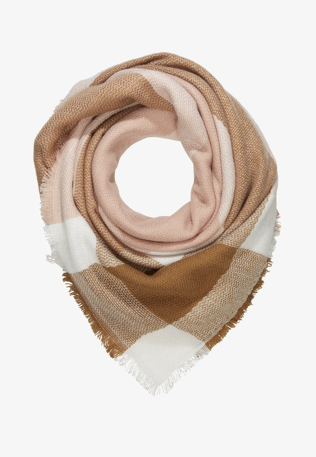 ONLALDINI SQUARE SCARF  - Halsdoek - misty rose/cloud dancer/toasted