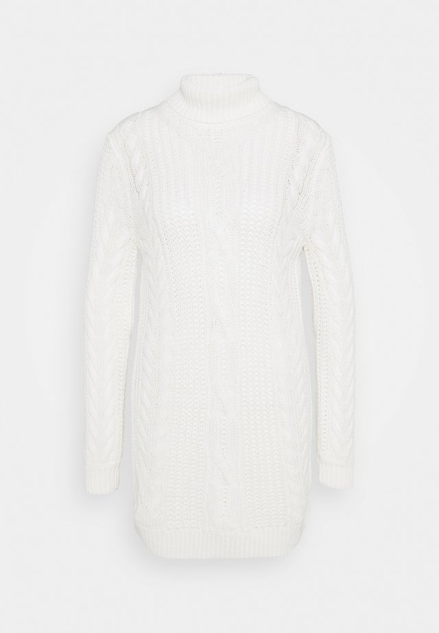 OBJAVA ROLLNECK DRESS - Robe pull - gardenia