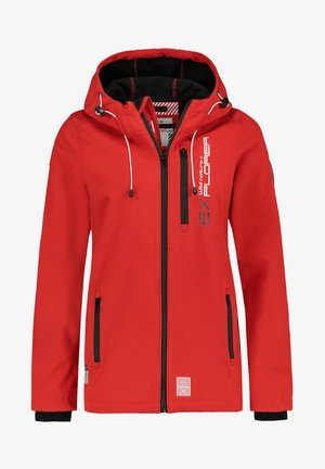 Soft shell jacket - red
