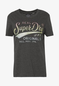 Superdry - GLITTER EMBOSS ENTRY TEE - T-shirts med print - charcoal marl - 3