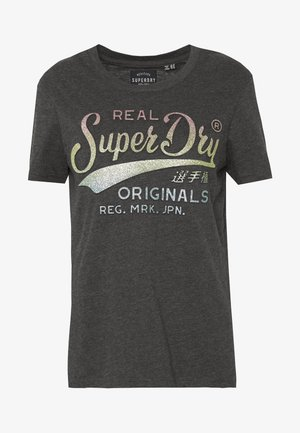 GLITTER EMBOSS ENTRY TEE - T-shirts med print - charcoal marl
