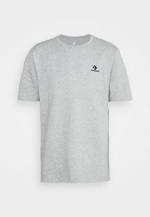 EMBROIDERED STAR LEFT CHEST TEE - T-shirt basic - grey