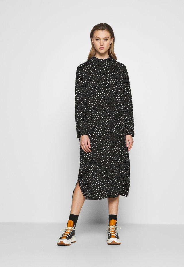 PIA DRESS - Korte jurk - black