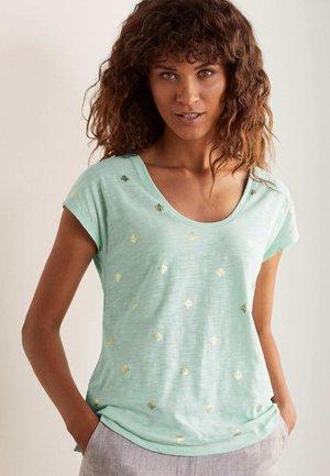 FRÖHLICHES  - Print T-shirt - mintgrün, korallenkacheln