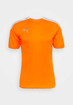 Print T-shirt - shocking orange/white