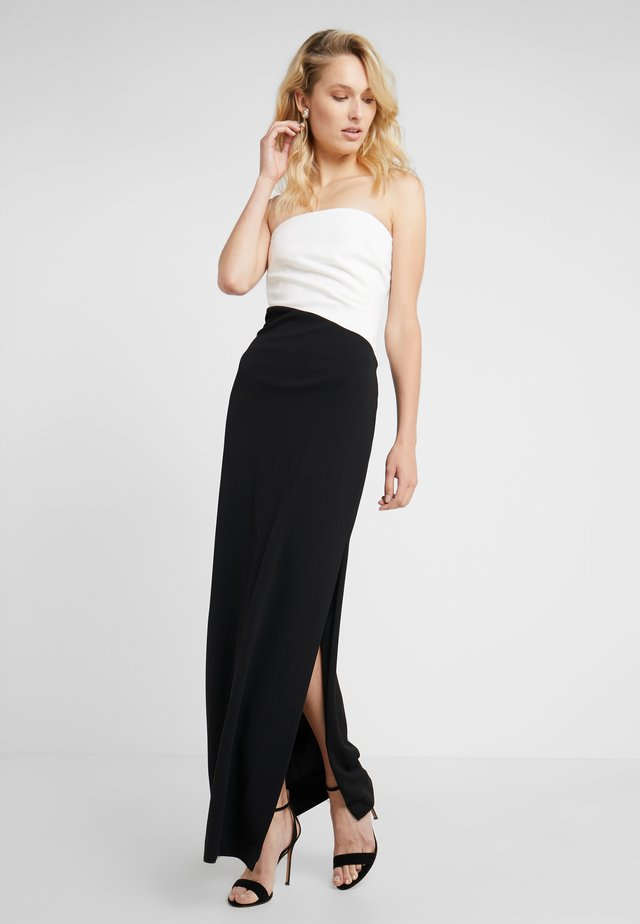 LUXE TECH TICHINA - Maxi dress - black/white