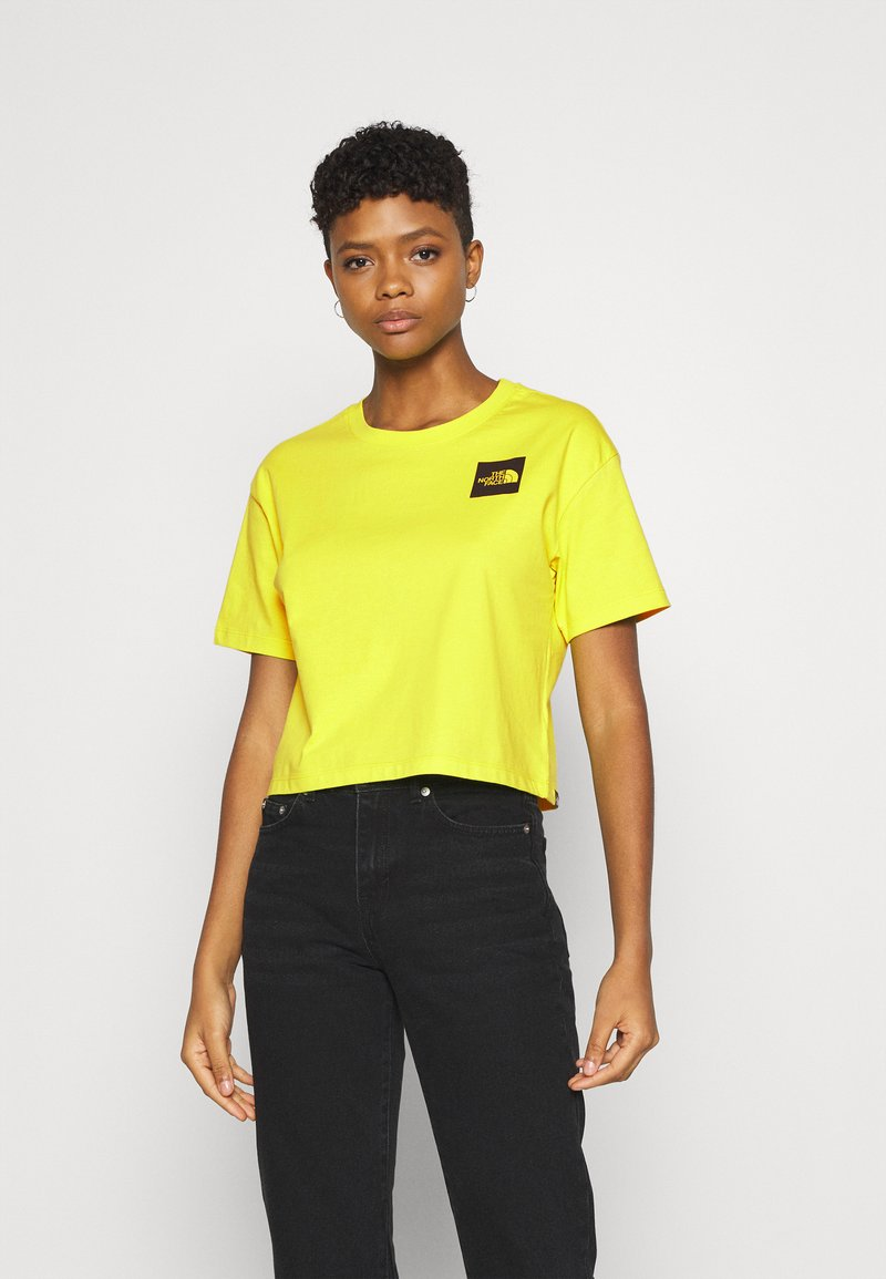 The North Face - CROPPED FINE TEE - Triko s potiskem - sulphur spring green