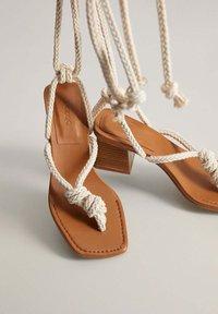 Mango - CORD - T-bar sandals - ecru - 3