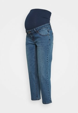 STRAIGHT LEG CROP - Straight leg jeans - mid wash