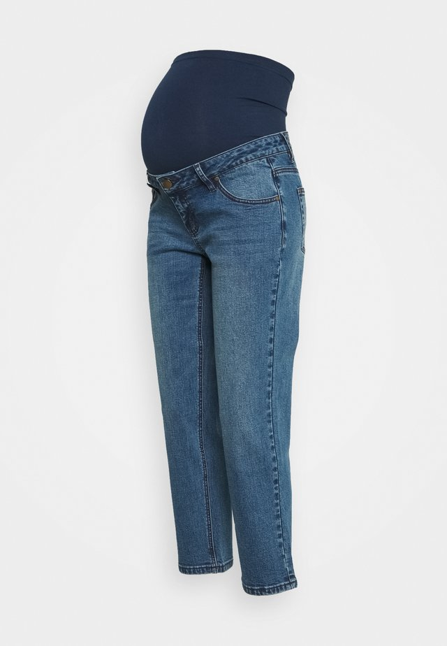 STRAIGHT LEG CROP - Džíny Straight Fit - mid wash