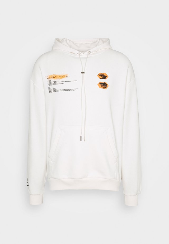 HOODIE WITH DEFINITION PRINT OIL PAINT - Felpa con cappuccio - offwhite