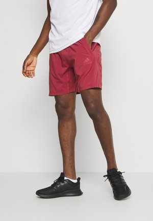 AEROREADY 3-STRIPES 8-INCH SHORTS - kurze Sporthose - red
