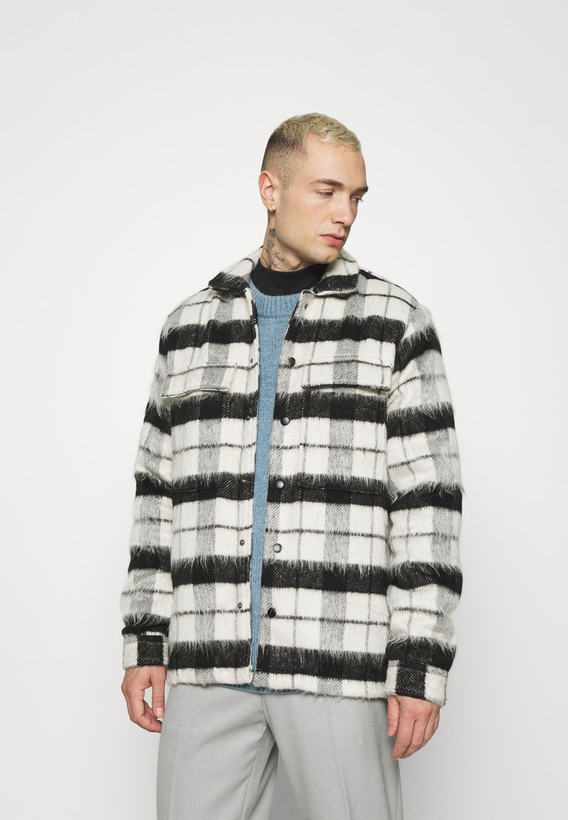 Topman - CHECK FLUFFY - Tunn jacka - black