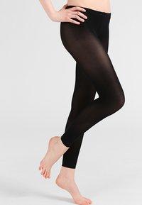 FALKE - FALKE PURE MATT 50 DENIER LEGGINGS HALB-BLICKDICHT MATT SCHWARZ - Leggings - Stockings - black - 0