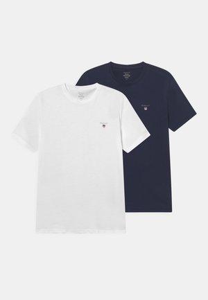2 PACK - T-shirts - navy/white