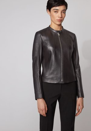 SAVIZA - Leather jacket - black