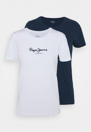 NEW VRIGINIA SHORT SLEEVE 2 PACK - T-shirts - white/navy