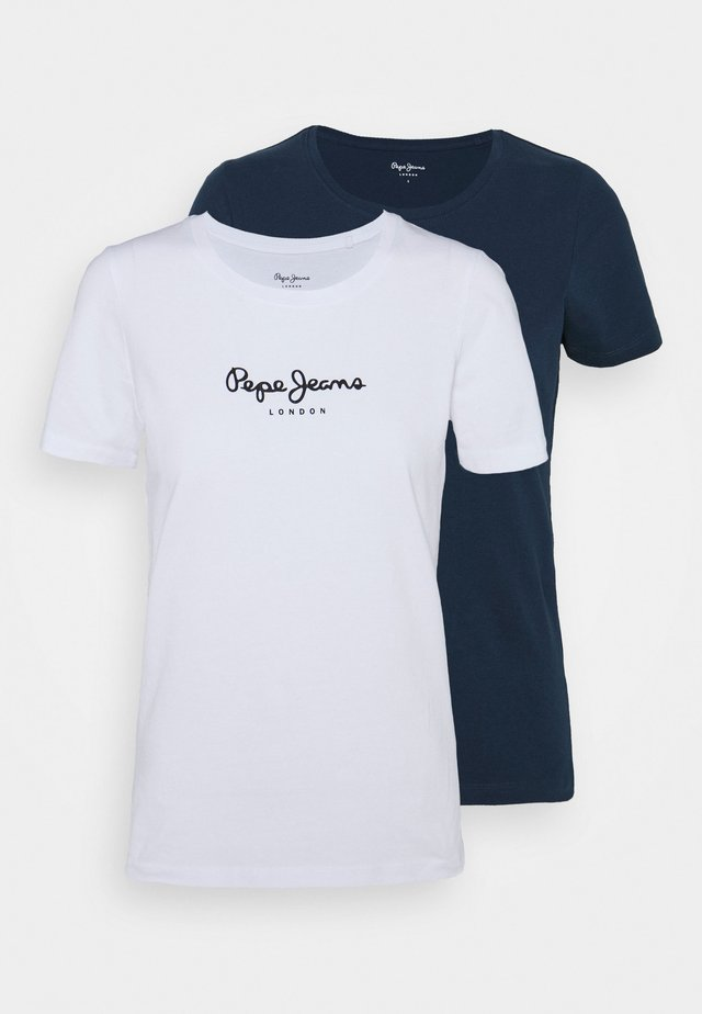 NEW VRIGINIA SHORT SLEEVE 2 PACK - T-shirt basic - white/navy