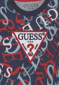 Guess - T-shirt con stampa - blue - 2