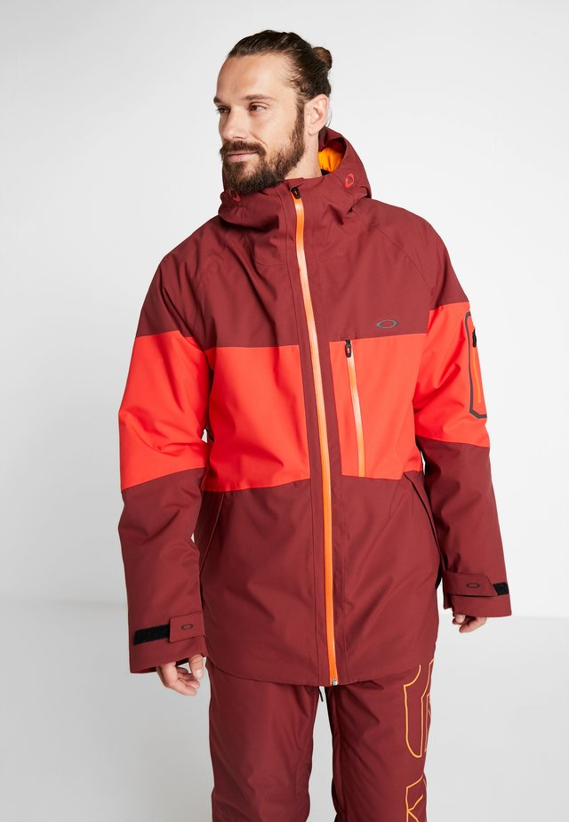 CEDAR RIDGE 10K - Snowboard jacket - oxblood red
