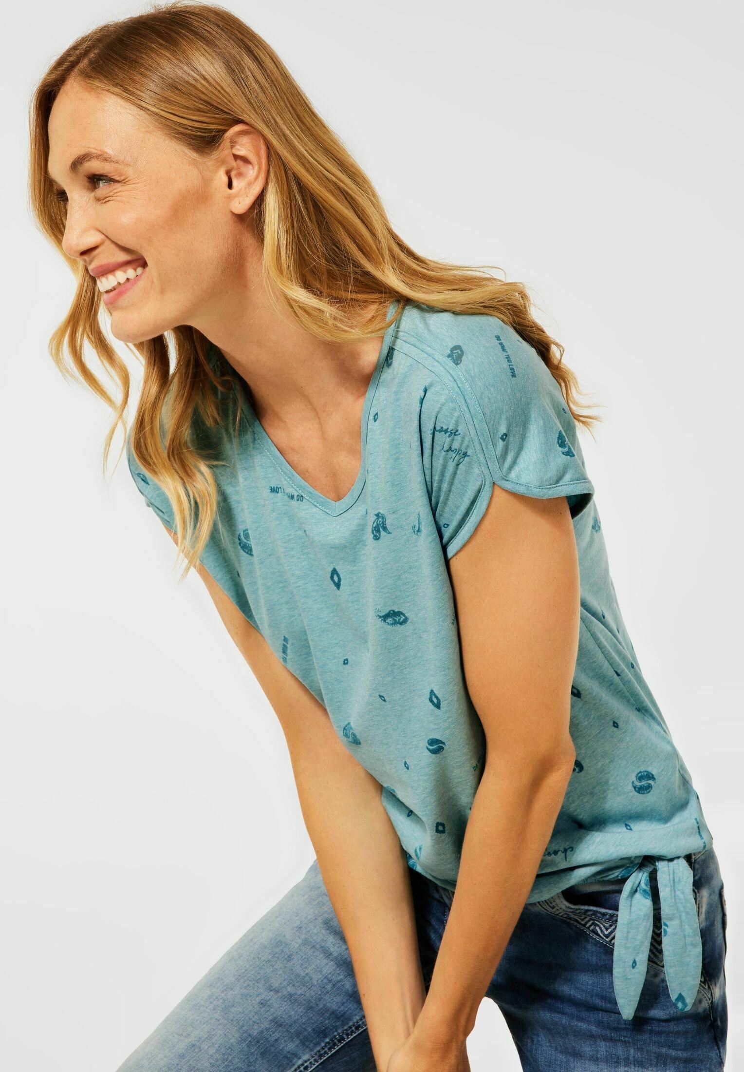 Damen T SHIRT IN BURNOUT OPTIK - T-Shirt print