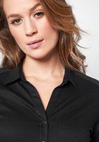 DESOTO - Button-down blouse - black uni - 3