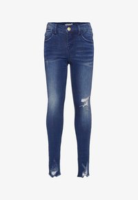 Name it - SUPER STRETCH - Vaqueros pitillo - dark blue denim - 0