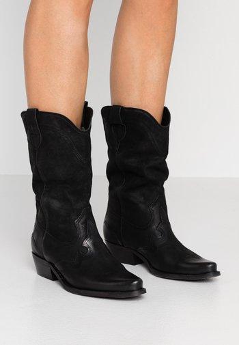 GERBERA - Cowboy/Biker boots - morgan black