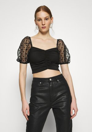 SPOT PUFF - Blouse - black