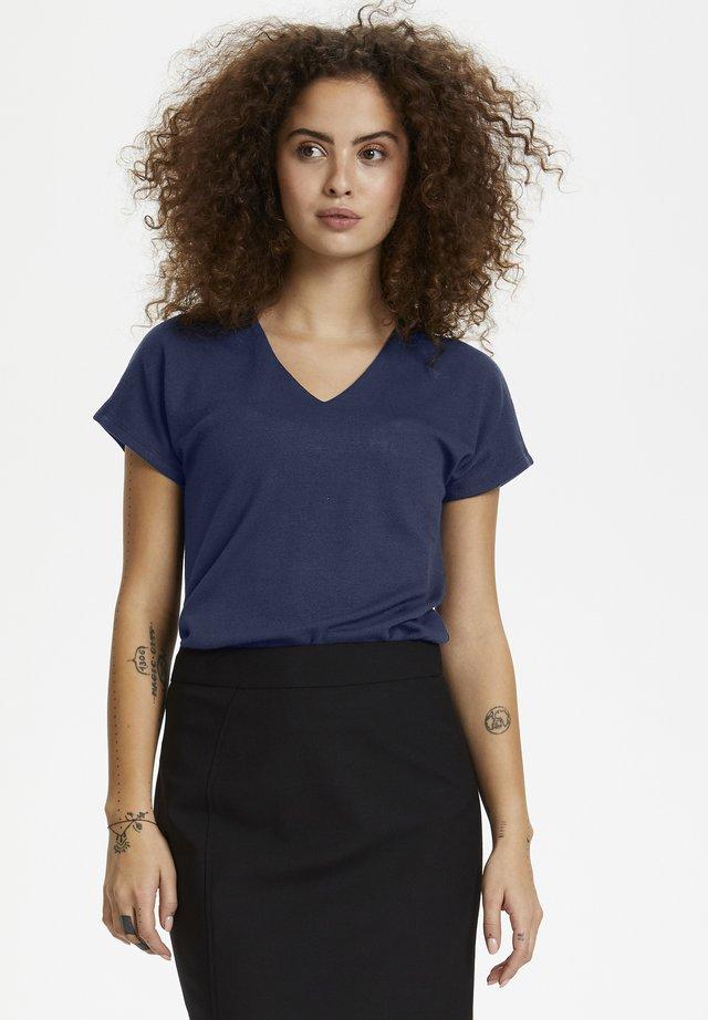 DANDY V NECK - T-shirt basique - blue