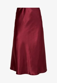New Look - BIAS CUT MIDI SKIRT - Maxi skirt - burgundy - 3