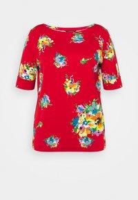 JUDY ELBOW SLEEVE - Print T-shirt - bright hibiscus multi