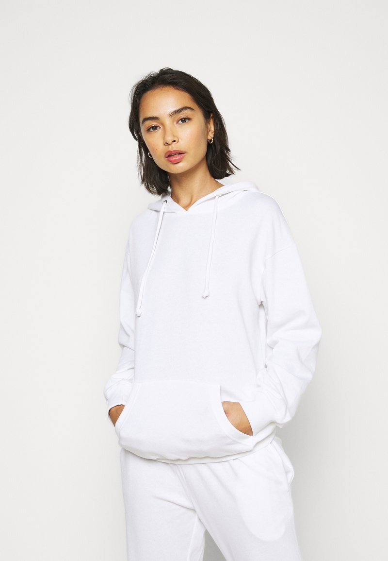 Missguided Petite - HOODIE AND JOGGER SET - Hoodie - white