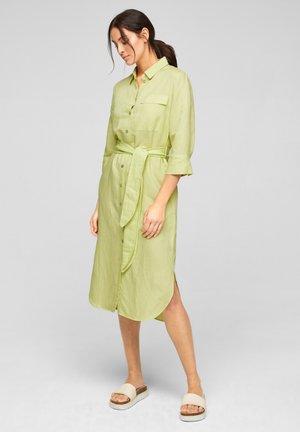 Shirt dress - lime yellow