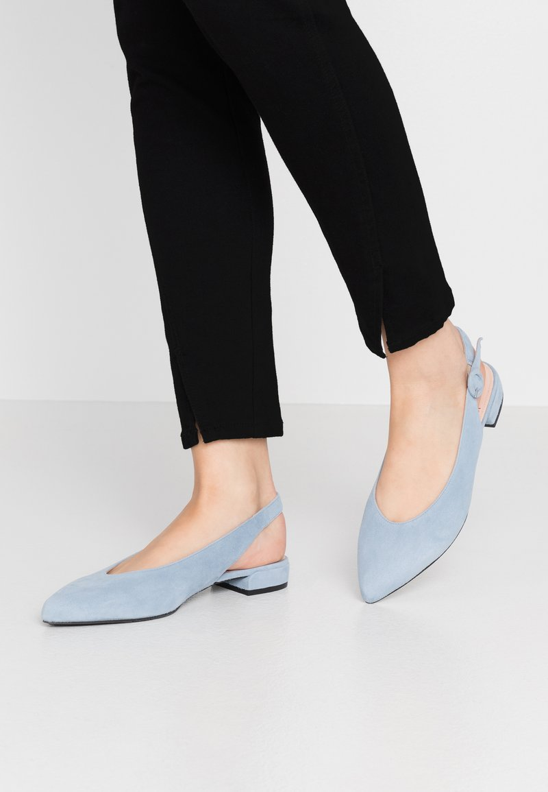 Maripé - Slingback ballet pumps - light blue