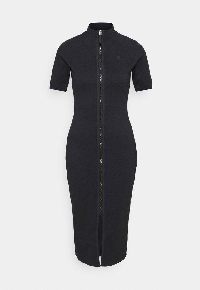 MOCK SLIM DRESS - Day dress - dark blue