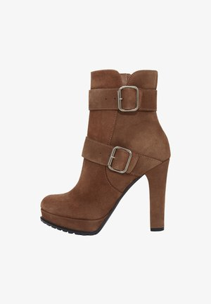 NOEMI - High heeled ankle boots - brown