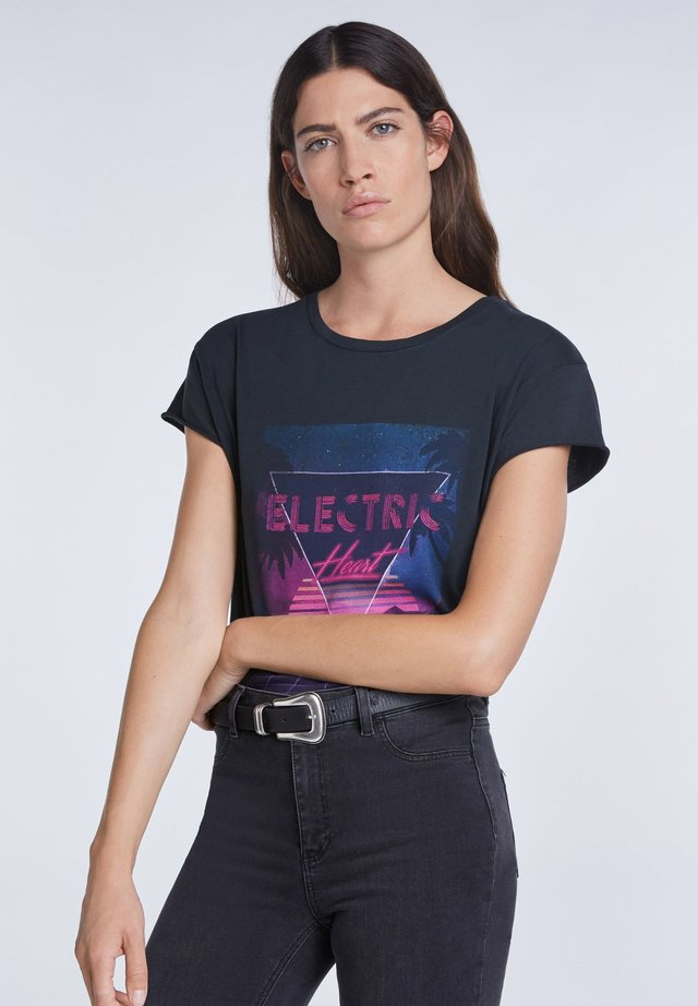 ELECTRIC HEART - T-shirt print - black